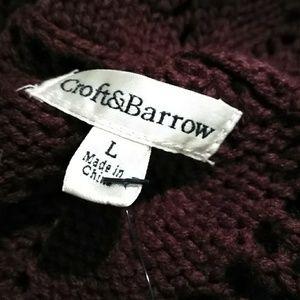 croft & barrow Sweaters - Flyaway Short Sleeved Cardigan & Coordinating Top